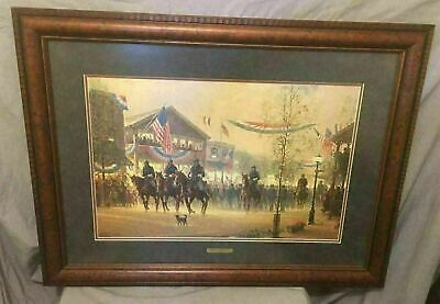 """Framed Fabulous Civil War Print """"Moment Of Glory"""" By The Late  G. Harvey"""