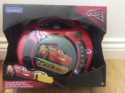Lexibook Disney Cars CD Player with 2 microphones kids music BRAND NEW
