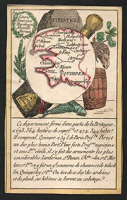 1800 Quimper Finistere Frankreich France playing card Spielkarte carte a jouer