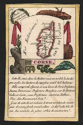 ca. 1800 Ajaccio Corse Frankreich France playing card Spielkarte carte a jouer