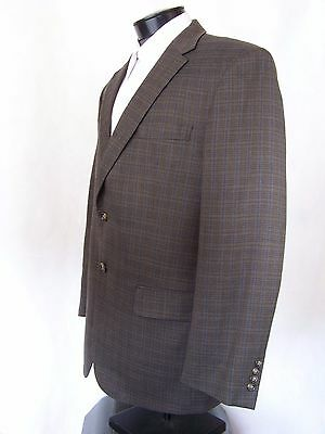Jos. A. Bank Blazer Taupe Check Sport Coat Wool Mens 42R