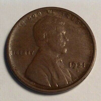 1921-S Lincoln Cent; a brn XF