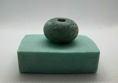 Rare Ancient Viking BIG Green Glass Decoration Bead ca 7 - 9 century AD  #478
