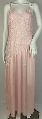 Vintage Undercover Wear Pink Lace Nightgown Nightie Lingerie Nylon Lace Size M