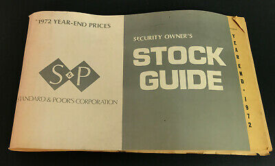 Vtg 1972 Standard & Poor's (S&P) Stock Guide for Year End Prices 1972- 262 pages