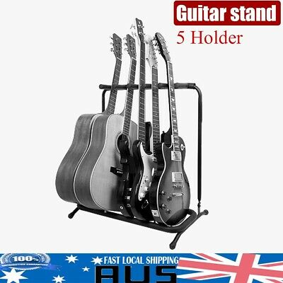Guitar / Instrument Rack Stand for 5 Acoustic-Electric-Bass-Banjo Durable 1PC