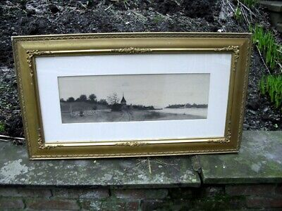 Fantastic art print with Antique Victorian Gold Gilded Carved Wood  Frame