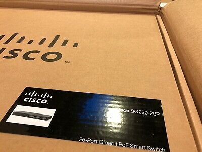 CISCO SYSTEMS 26-Port Gigabit PoE Smart Plus Switch SG22026PK9NA