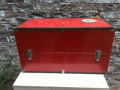 Collectible 1920's? Doll Trunk-Red Metal Wardrobe-Ideal Baby Shoes-Doll Clothes