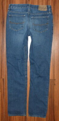 Boys Polo Ralph Lauren Classic Straight Leg Distressed Style Jeans Size 16