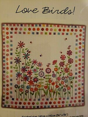 "Love Birds Quilting Kit with Holly Holderman Fabrics 56"" x 56"""