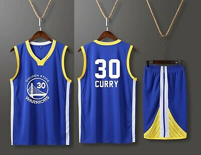 new styles bc4fa f8ca6 STEPHEN CURRY #30 KIDS BOY Children / Youth BASKETBALL JERSEY W/ SHORT SET