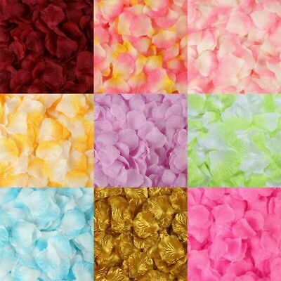 1000Pcs Silk Rose Flower Petals Wedding Party Confetti Decorate UK Beauty