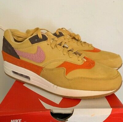super popular 1c689 2f28b Nike Air Max 1 Crepe Wheat Gold Rust Pink CD7861 Size 13 DS