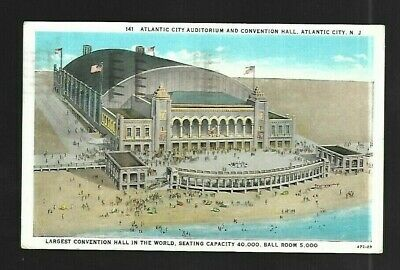 Vintage Postcard Auditorium & Convention Hall Atlantic City New Jersey