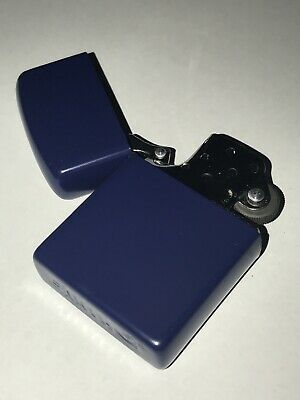 MATTE BLUE Flip Top Lighter Kerosene / Zippo Fluid Oil Needed Metal Cigarette