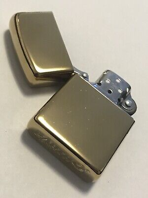 GLOSS GOLD Flip Top Lighter Kerosene / Zippo Fluid Oil Needed Metal Cigarette
