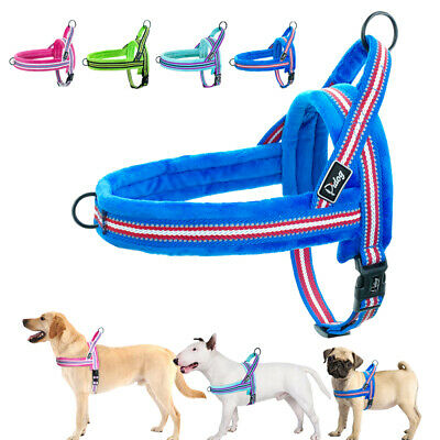 Front Control No Pull Dog Harness w/ Soft Plush Padded Pet Strap Vest Reflective