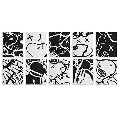 "16x20"" Each Kaws Gallery 10pc Canvas Set: Man's Best Friend Contemporary Snoopy"