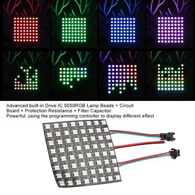 LED MATRIX 8X8 WS2812B RGB, works with Neopixel Library for