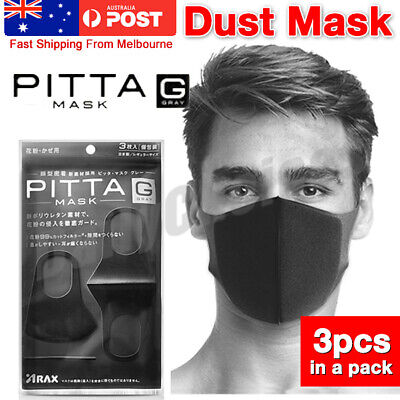1/3Pcs Anti Dust Surgical Respirator Mask Mouth Face Mask Washable Cycling AUS