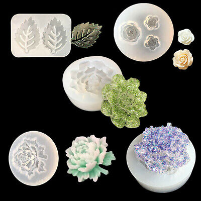 Silicone Mold Flower Leaf Epoxy Resin Mould DIY Jewelry Making Clay Craft Decor