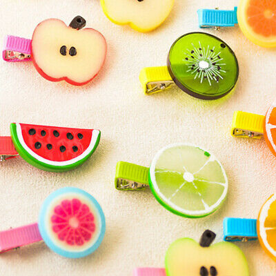 Cute Fruit Shape Hair Clips Snap Barrette Girls Kids Accessories Hairpin Gifts