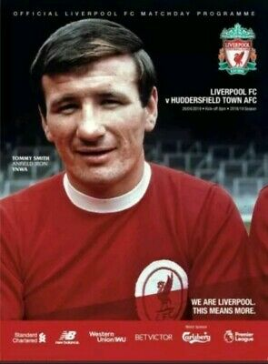 Liverpool v Huddersfield Town 2018/19 Official Match Programme mint condition