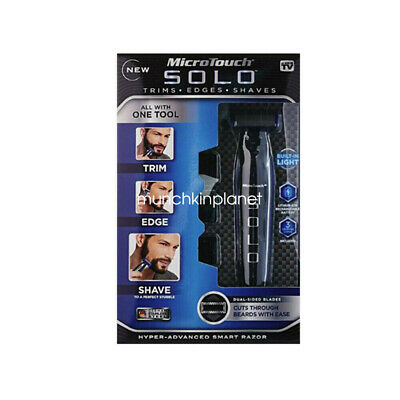New Men's Electric Shaver Rechargeable Razor Edge Trimmer Micro Touch SOLO
