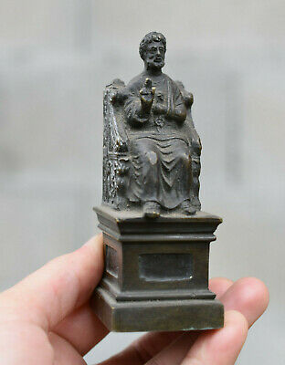 ⭐  antique French religious statue bronze of St. Peter ⭐