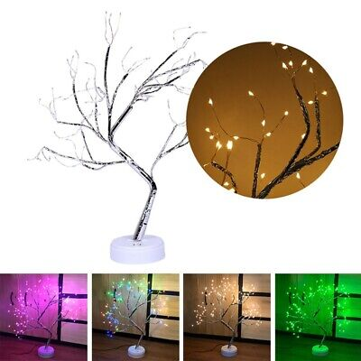 Battery-Operated Snow Bonsai Tree Lights with 108 LED Tabletop Party Home Decor
