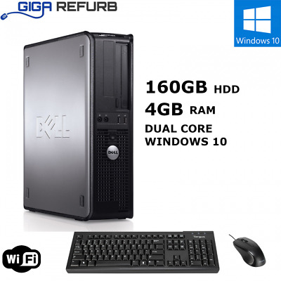 FULL DELL/HP, INTEL DUAL CORE DESKTOP TOWER PC, WiFi, Windows 10