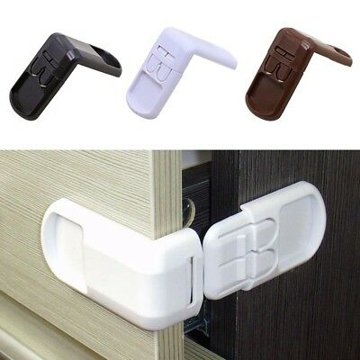 5Pcs Adhesive Child Baby Safety Lock For Cabinet Door Fridge Drawer Cupboard AU