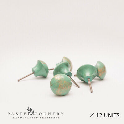 Pastel Country Set of 12 Beautiful Resin Cabinet Drawer Cupboard Knobs