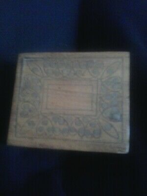 small arts and crafts wooden box