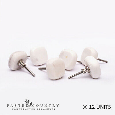 Pastel Country Set of 12 Beautiful Marble Cabinet Drawer Cupboard Knobs