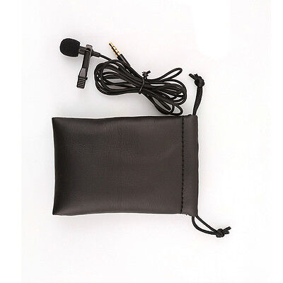 Clip-on Lapel Mini Lavalier Mic Microphone For Phone SmartPhone Recording PC Use