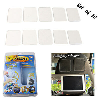 10pcs Magic Super Sticky Anti-slip Double-Sided Adhesive Gripping Pads Clear AU