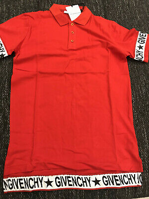 9318cd831 Brand New Givenchy Red Stripe Star Cuban Fit Jersey Cotton Men's Polo T- Shirt
