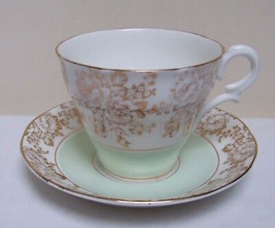 ROYAL KENT /'ROSES /& DOGWOOD/' #ROK14 CHINA CUP//SAUCER//PLATE TRIO c.1960/'s EX