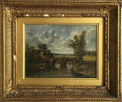 Charles Jayne Fine Oil Painting River Landscape 'Cloudy Day'. Exhibited R.A