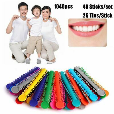 Teeth Tools 1040 Pcs Orthodontics Elastic Dental Ligature Ties Rubber Bands