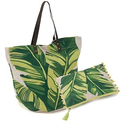 Matching Set ~ Craft Bag and Project Pouch ~ Tropical ~ Hobbygift ~ 524