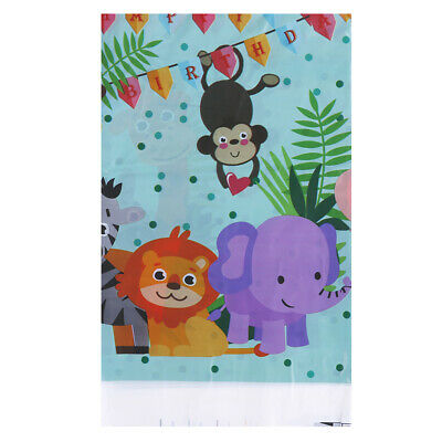 Safari animals tablecloth disposable table cover for kids 'birthday party decor