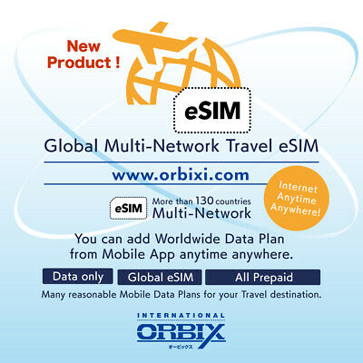 Global Travel eSIM Multi-Network, Pay As You Go with Mobile App, World Wide SIM