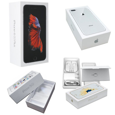 Scatola Box Originale Per Apple Iphone 6 6S 7 8 Plus X Accessori Cuffie Cavo