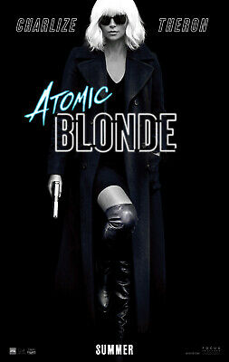 ATOMIC BLONDE MOVIE POSTER 2 Sided ORIGINAL VF 27x40 CHARLIZE THERON