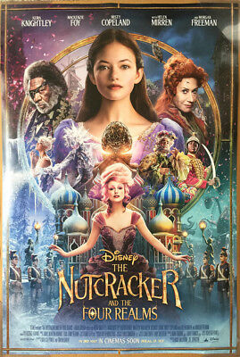 THE NUTCRACKER AND THE FOUR REALMS MOVIE POSTER DS ORIGINAL INTL FINAL VF 27x40