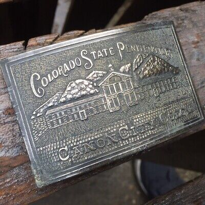Stylish Vintage Brass/Metal 'Colorado State Penitentiary' Belt Buckle - Mancave