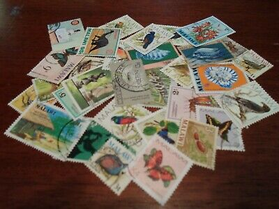 Collection lot 30 different stamps of Malawi